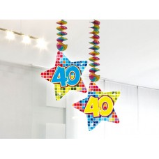 Hangdecoratie blocks 40 jaar